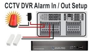 CCTV DVR Alarm Input Output