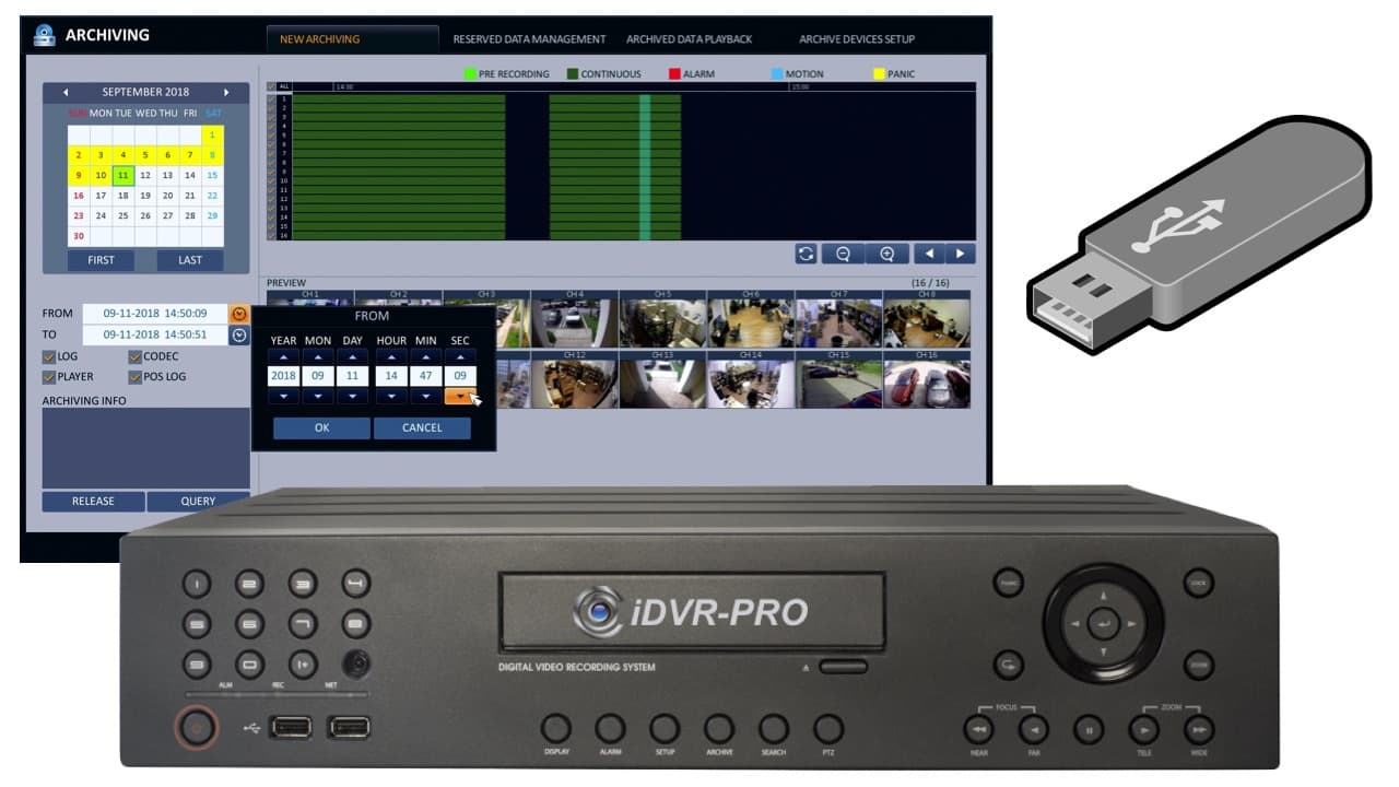 CCTV DVR Video Export USB Drive