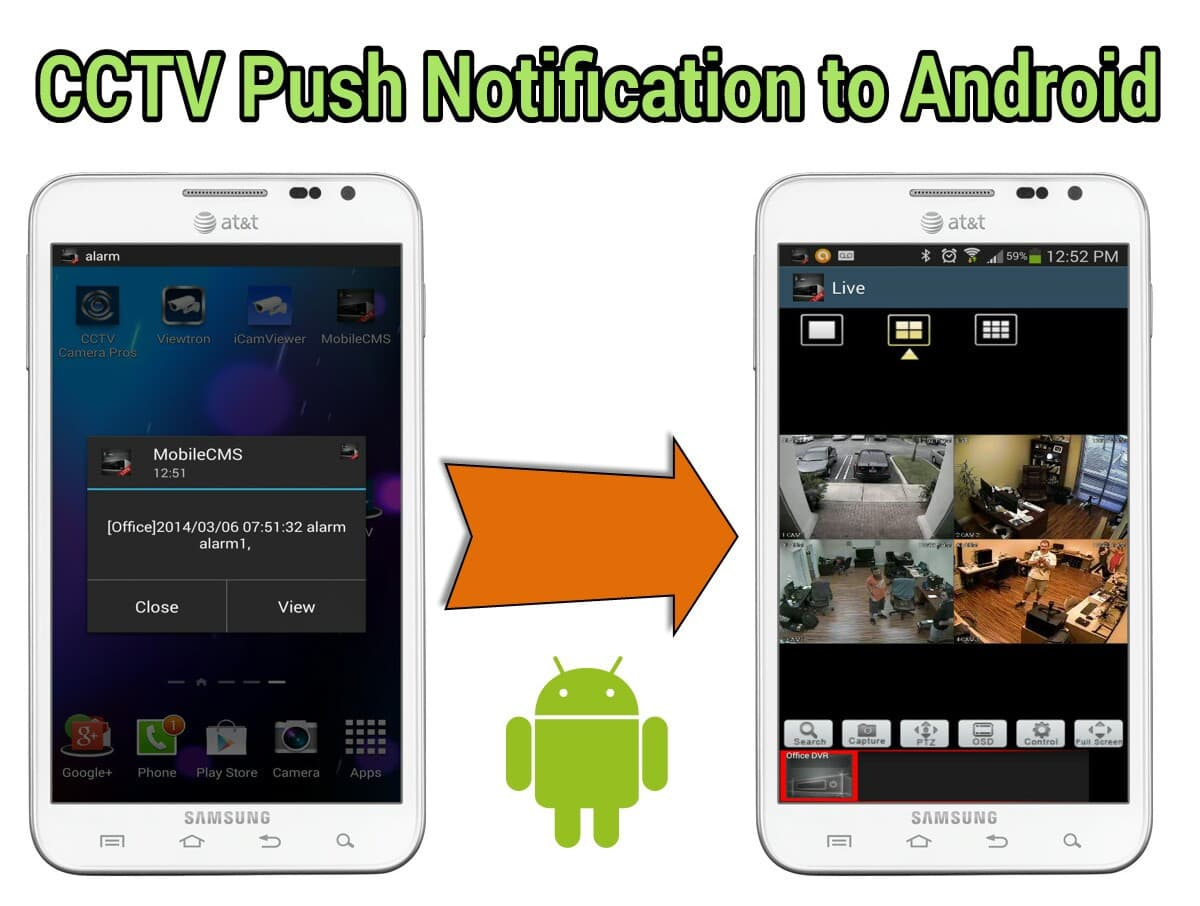 CCTV Push Notification Android DVR Viewer App