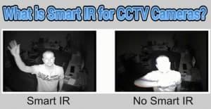 CCTV cameras with smart IR