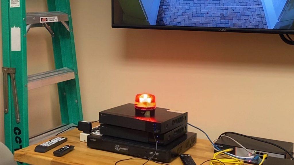 DVR Alarm output light on