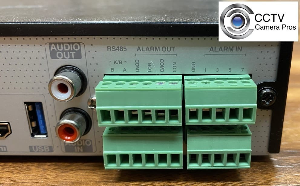 DVR NVR Alarm Outputs