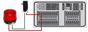 DVR alarm output