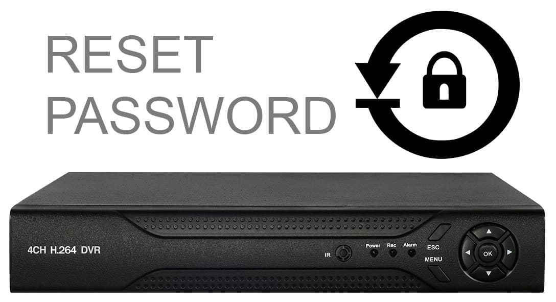 H.264 CCTV DVR Password Reset
