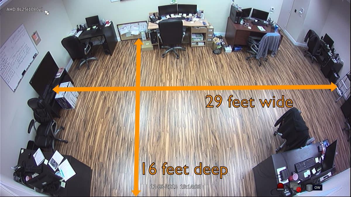 Full HD 1080P AHD Fisheye 180 Degree Wided CCTV Security Camera night vision US