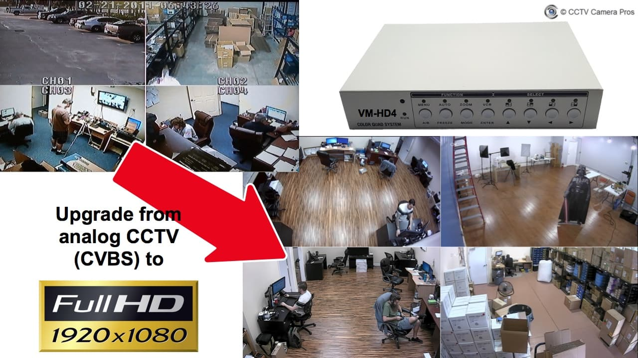 HD CCTV Security Camera Quad Video Multiplexer