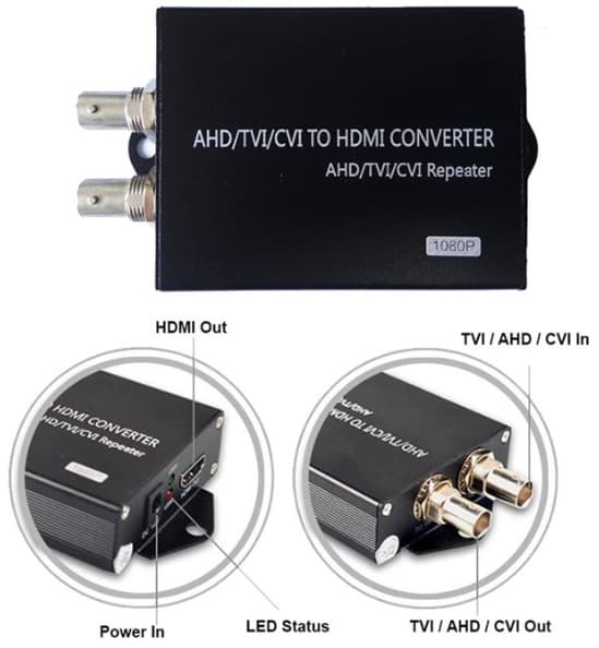 HD-CVI to HDMI Converter