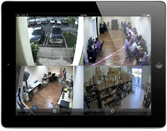 HD-SDI CCTV DVR Viewer iPad App