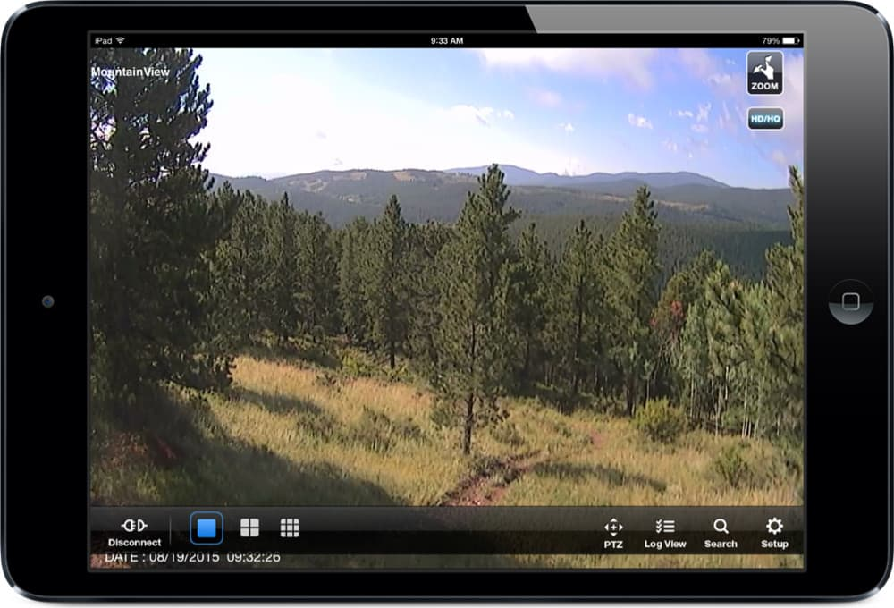 HD Security Cameras Nederland Colorado Mountains iOS View