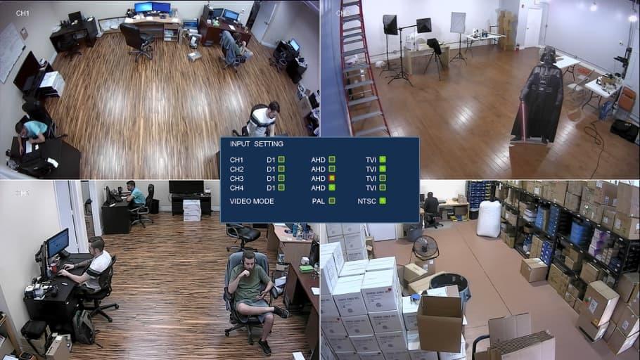 HD-TVI AHD multiplexer