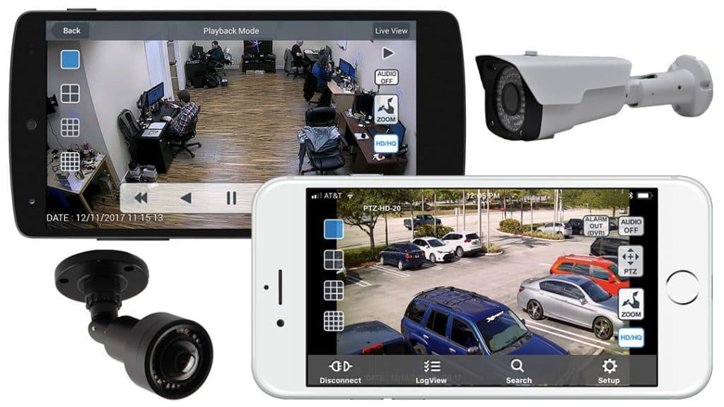 HD Security Camera Mobile App View