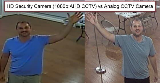 HD Security Camera (1080p AHD CCTV) vs Analog CCTV Camera