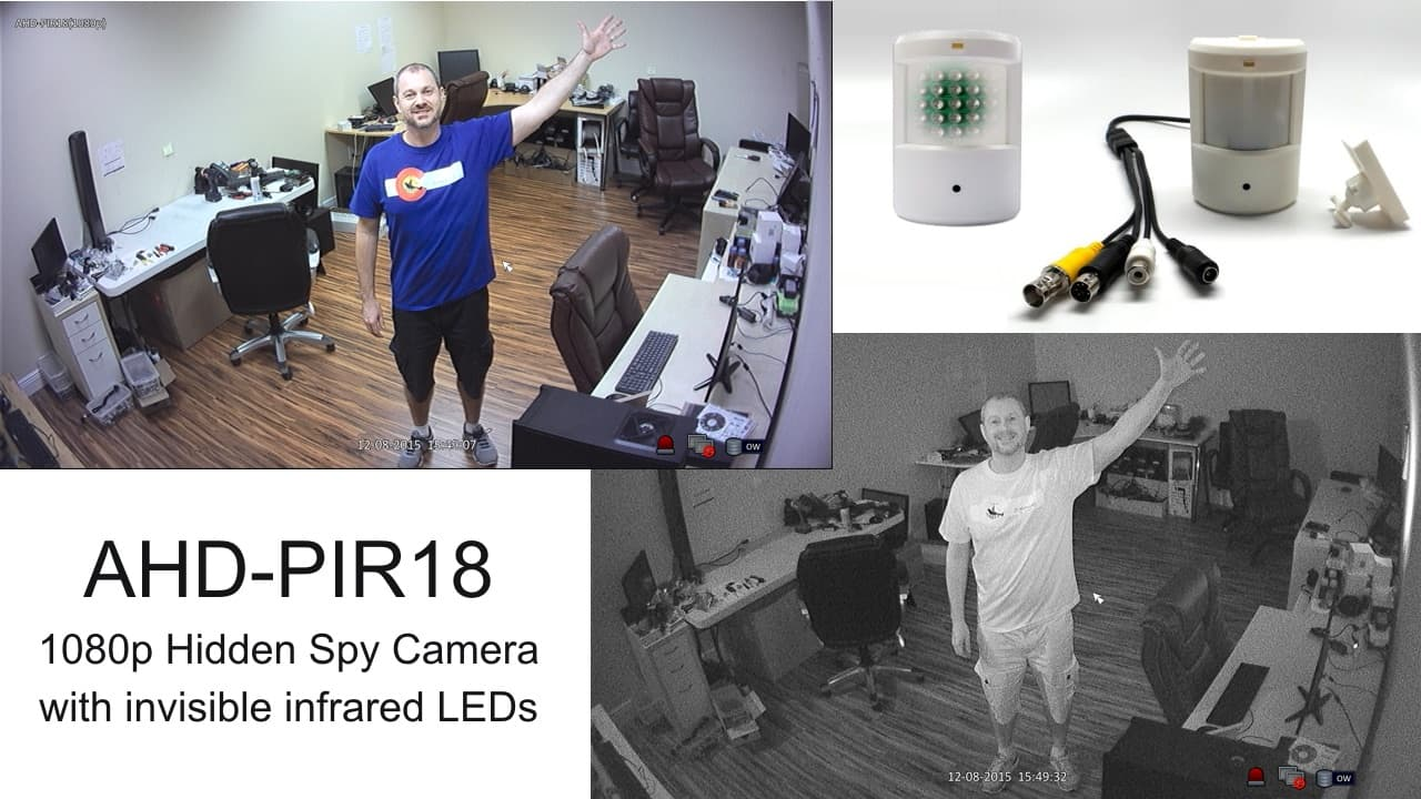 Hidden Security Camera with Invisible Infrared
