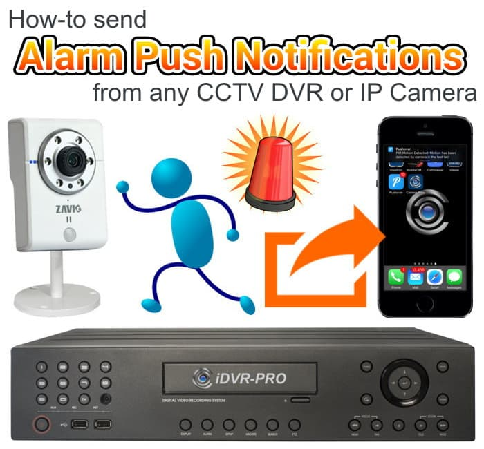 IP Camera CCTV DVR Alarm Push Messages