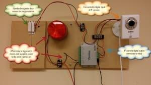 IP camera digital io alarm wiring