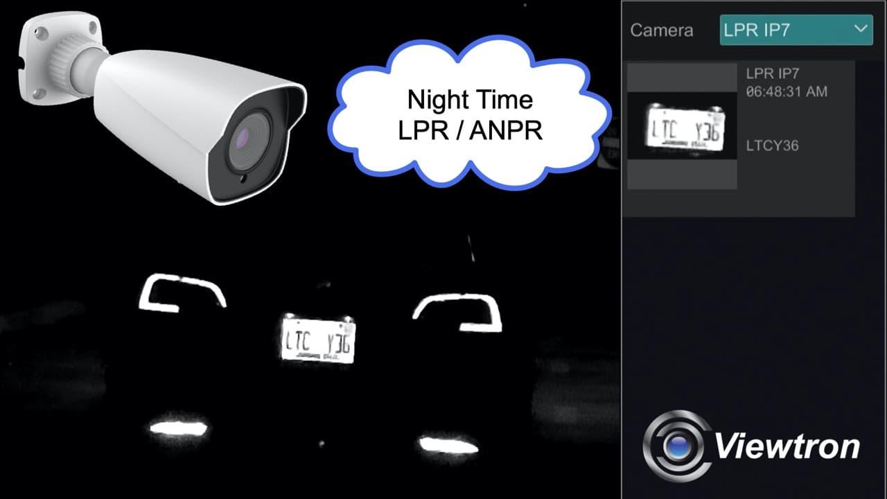 LPR camera night