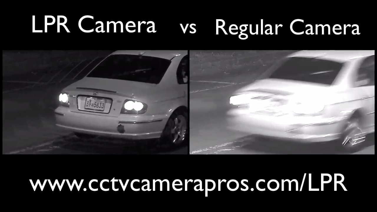 License Plate Capture Camera vs Non-LPR Camera