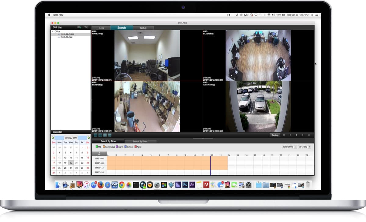Multi-camera CCTV software for the Mac