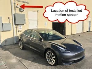 Model 3 Tesla Motion Sensor Alarm