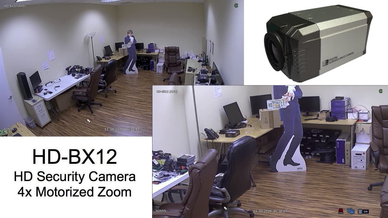 Motorized Zoom Lens CCTV Camera