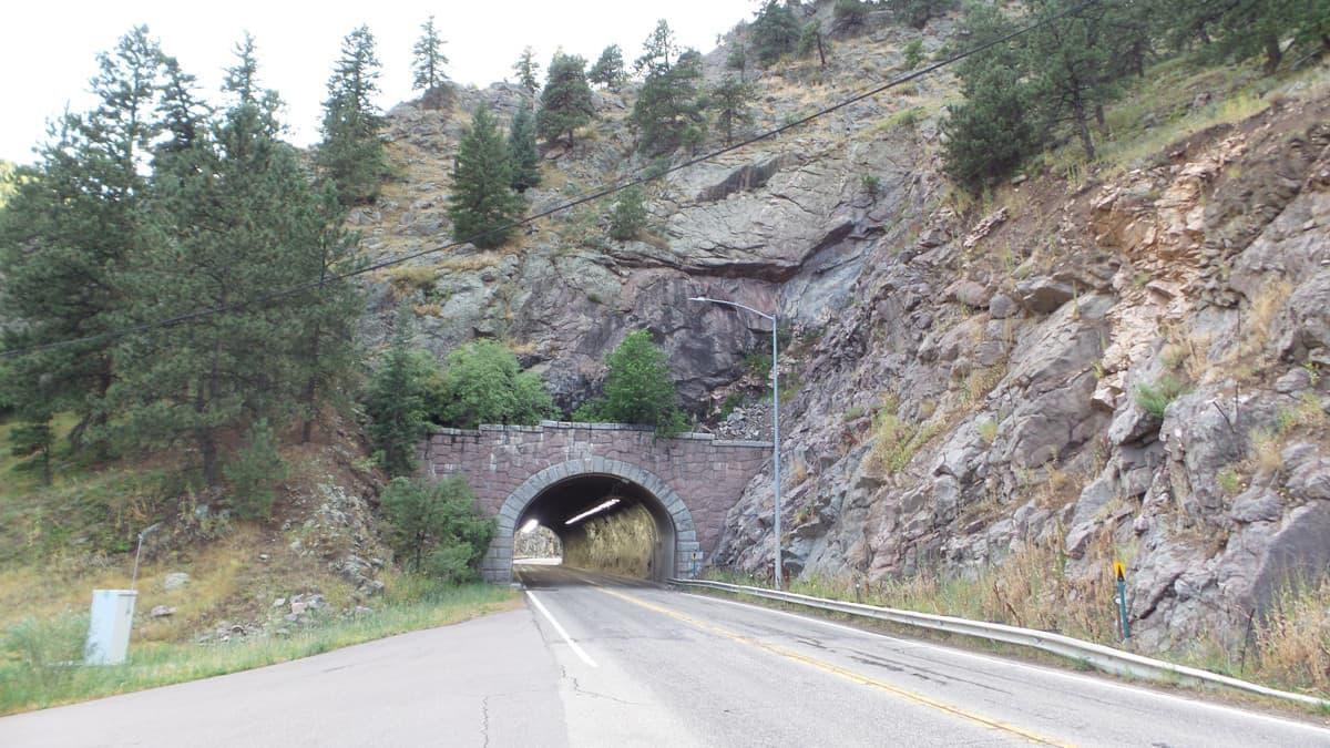 Mountain Tunnel Boulder to Nederland Colorado