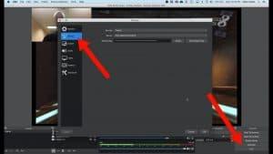 OBS studio Twitch stream key