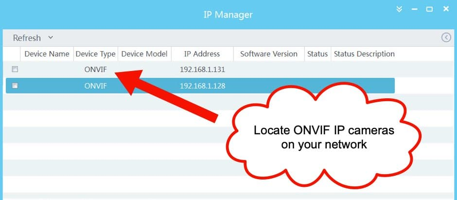 ONVIF IP Camera Network Scanner