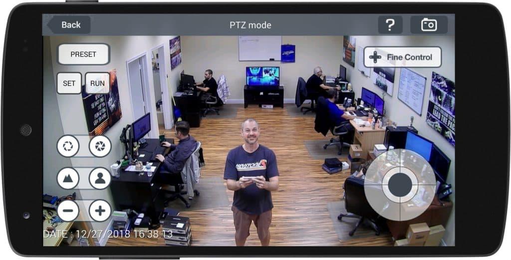 PTZ Camera Android App