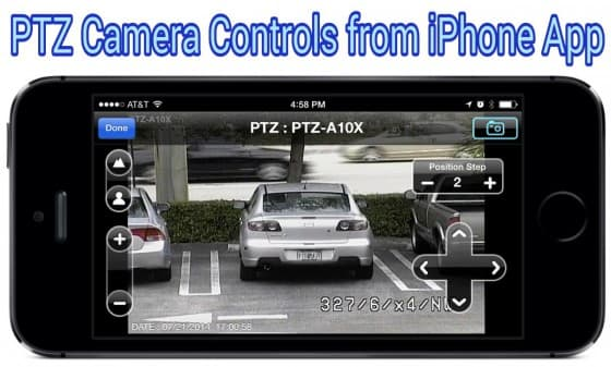 iPhone App with PTZ Camera Controls