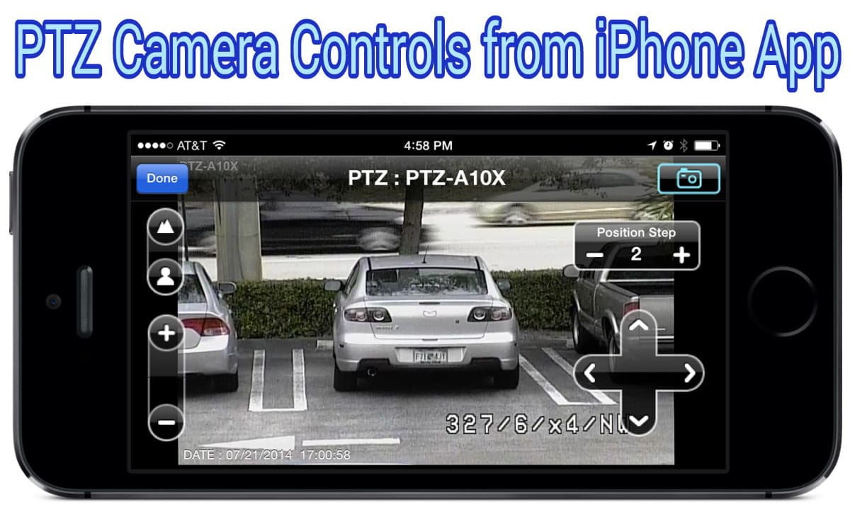 PTZ Camera Controls from iPhone App