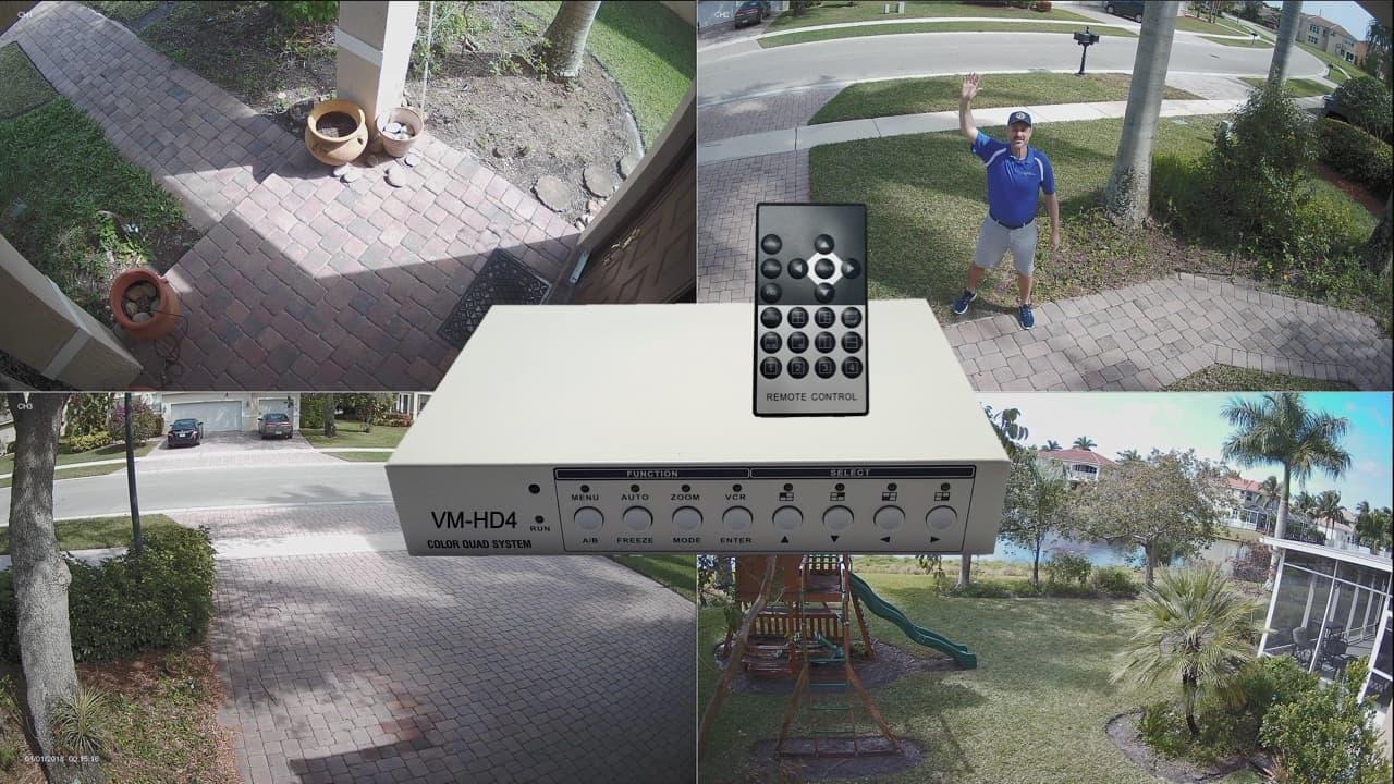 Quad CCTV Multiplexer