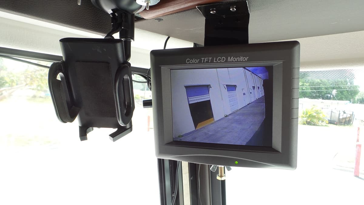 RV Motorhome Rear View Camera Monitor