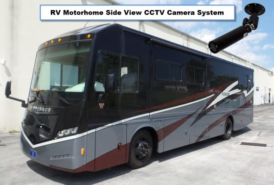 RV Motorhome Side View CCTV Camera System