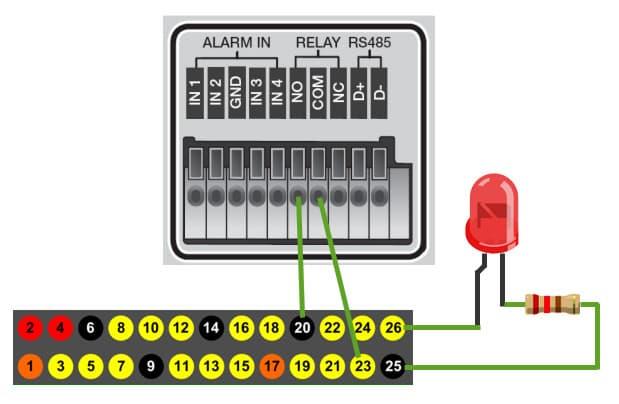 Raspberry Pi Alarm Input Wiring