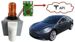 Tesla API Security Alarm