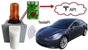 Tesla API Security Alarm Project with Raspberry Pi