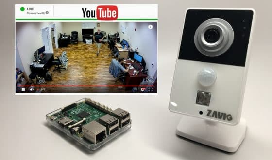 YouTube Live Stream Video Raspberry Pi IP Camera
