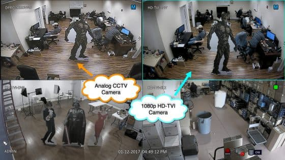 analog CCTV camera vs hd-tvi security camera