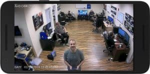 Android CCTV App live camera view