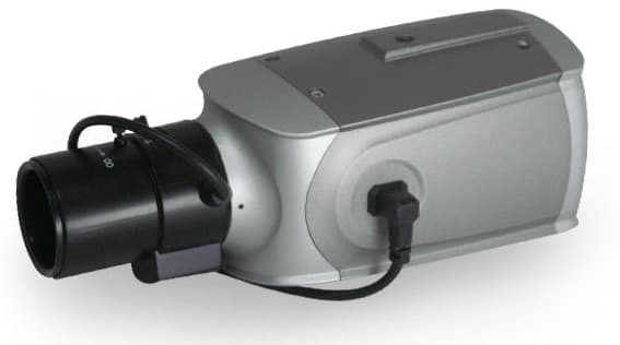 box-style CCTV camera with zoom lens