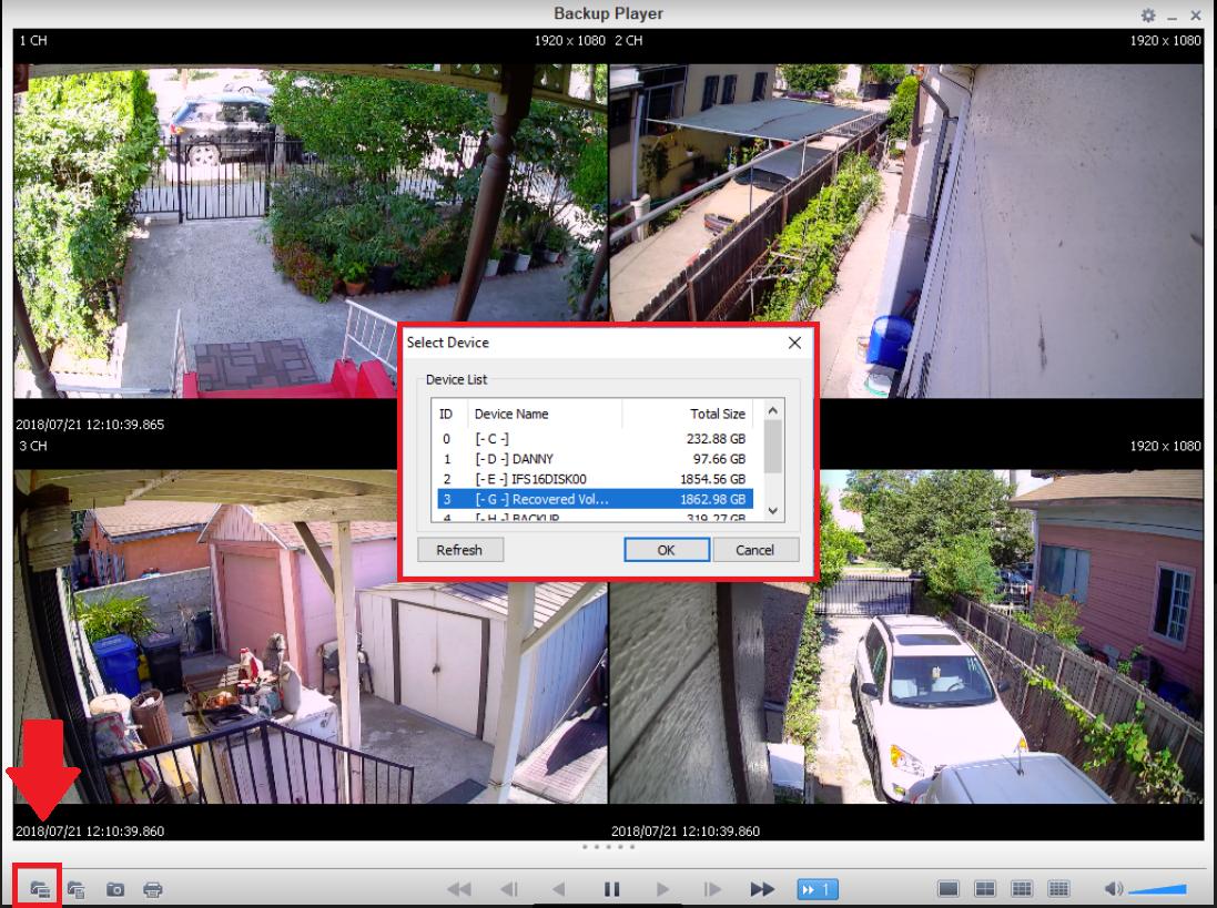 cctv dvr video backup