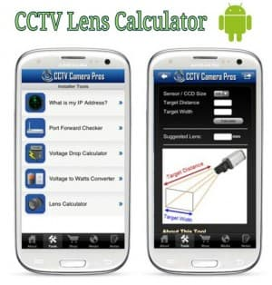 CCTV lens calculator app