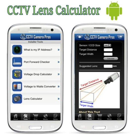 CCTV Lens Calculator Available in Android Mobile App