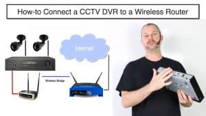 how-to connect cctv dvr to internet wireless router