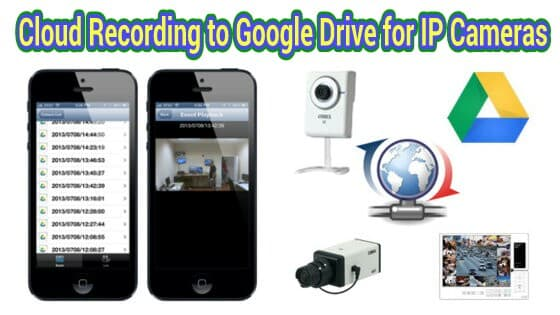 google drive video recording ip cameras