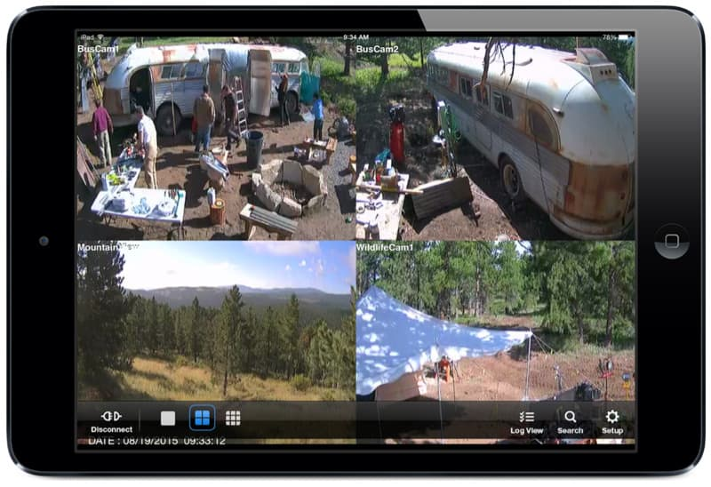iPad CCTV camera view