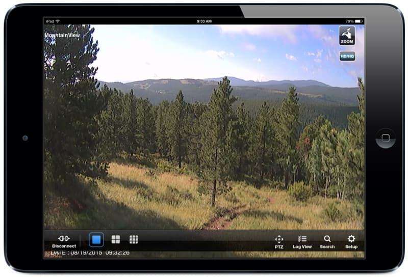 iPad security camera view