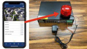 iPhone trigger DVR Alarm output
