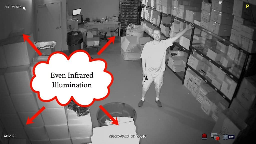 infrared security camera with smart IR