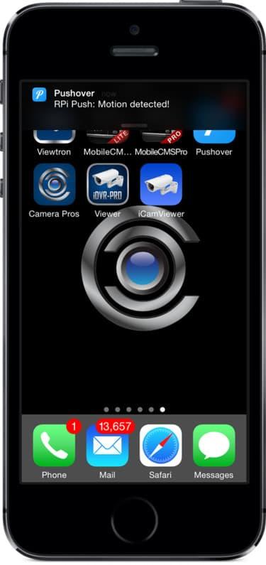 iPhone motion detection push notification